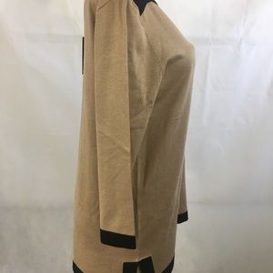 Cable & Gauge black and beige sweater NWT XL